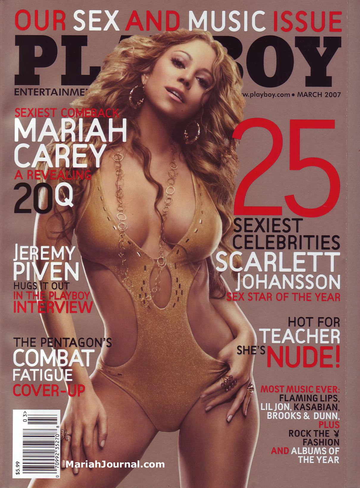 Front cover of Playboy Magazine Ima...